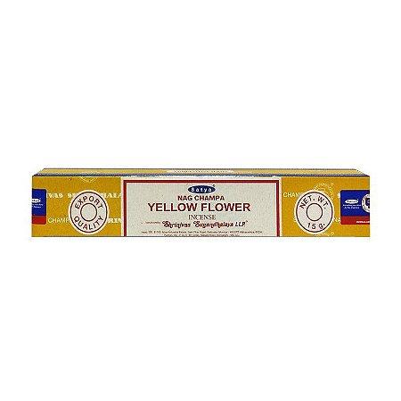 Incenso Indiano Satya Nag champa Yellow Flower