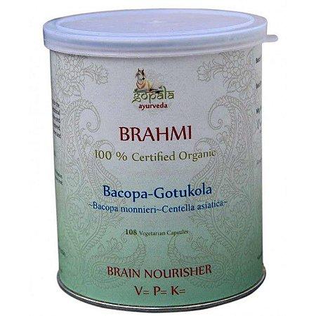 Brahmi-Gotukola ( Bacopa monnieri e Centella asiatica ) 108 Capsulas orgânicas de 500 mg