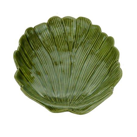 Prato Decorativo Cerâmica Banana Leaf Verde Peq 14x13cm 4481