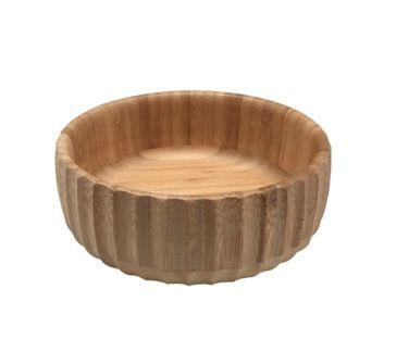 Bowl Canelado de Bambú Médio 19cm Oikos 310