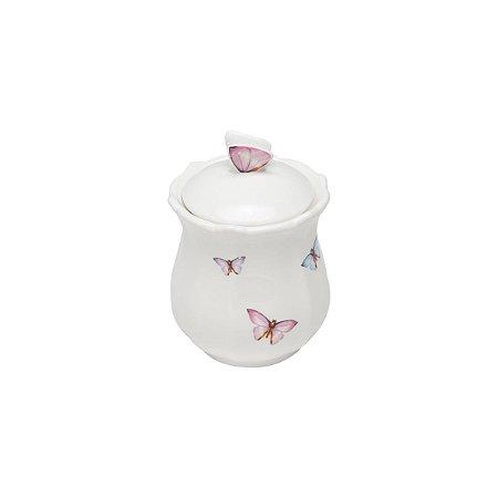 Pote Porcelana com Tampa Borboletas 350ml 1152