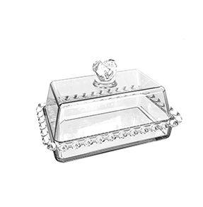 Manteigueira com Tampa Cristal Coração 17x10,5x10cm 1703