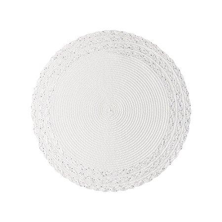 Lugar Americano Branco com Prata 38cm  61311