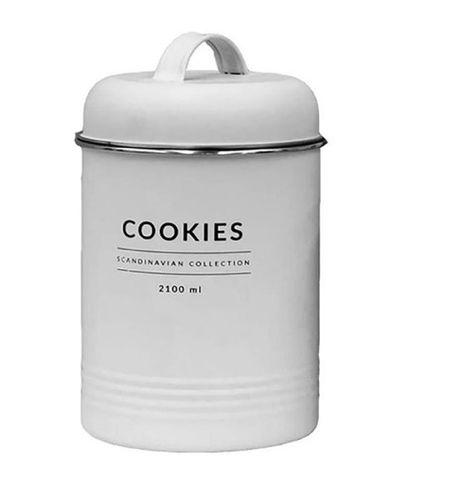 Porta Mantimentos Branco Copenhag Cookies 2100ml