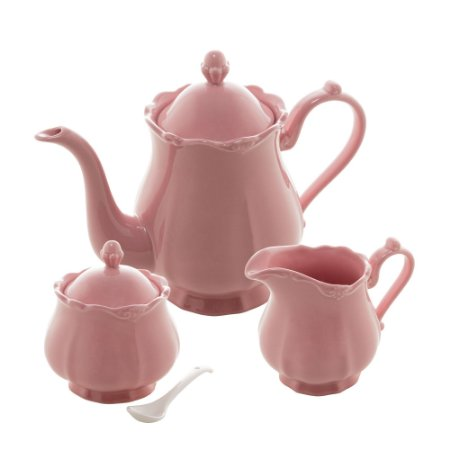 Jogo 03 Peças para Chá ou Café Porcelana Fancy Rosé 17749