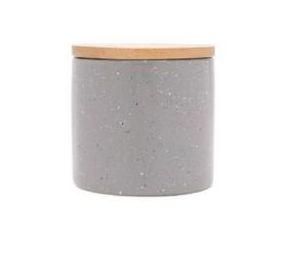 Potiche Cerâmica Granilite com Tampa Bambu Cinza 10cm 8677