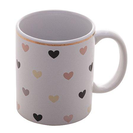 Caneca Porcelana  Hearts 350ml 8635
