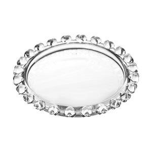 Mini Prato Pires de Cristal Borda Coração 9,5cm 1697