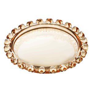 Mini Prato Pires de Cristal Coração Âmbar Metalizado 9,5cm 1719