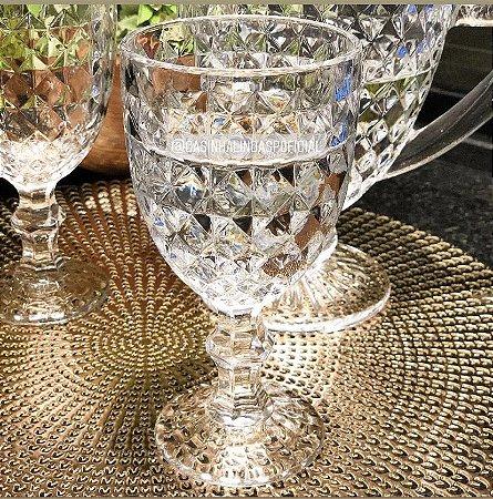 Jogo 6 Taças 345ml para Água de Vidro Transparente Roman 35455
