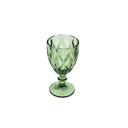 Jogo 6 Tacas Para Água Vidro Diamond Verde 325ml 6501