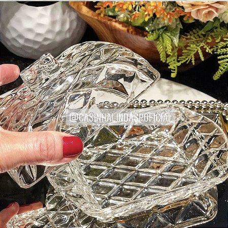 Manteigueira de Cristal Deli 16,9x8,10cm 7476