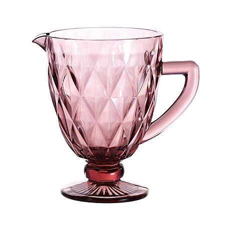 Jarra de Vidro Diamond Rosé/Lilás 1,1 Litro 6471