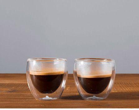 Jogo 6 Copos para Café Dupla Parede de Vidro Borossilicato 70ml 6298