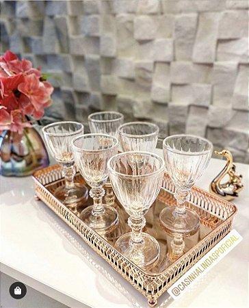Jogo 6 Taças para Licor de Cristal de Vidro Athenas 50ml 7840