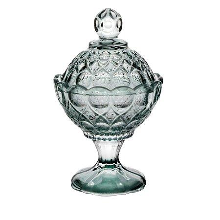 Potiche Decorativa Cristal Angel Verde menta com Pé 11x16cm 27883