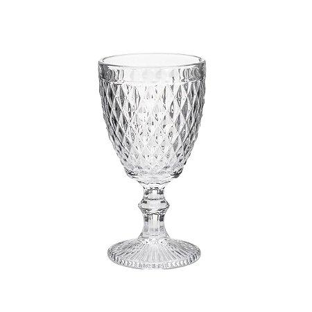 Jogo 6 Taças para Vinho Vidro Bico de Abacaxi Transparente 265ml 6462