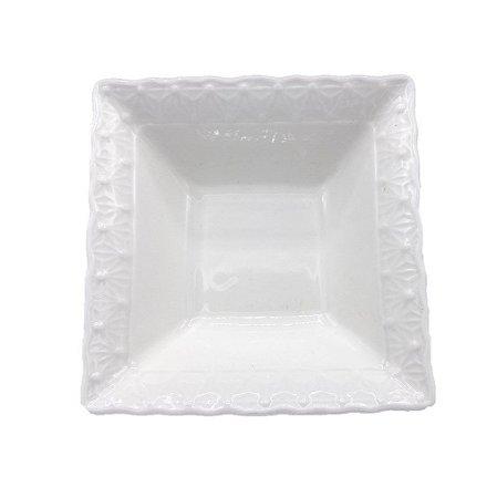Bowl Quadrado Pequeno Cerâmica 11,5x11,5x4cm 61003