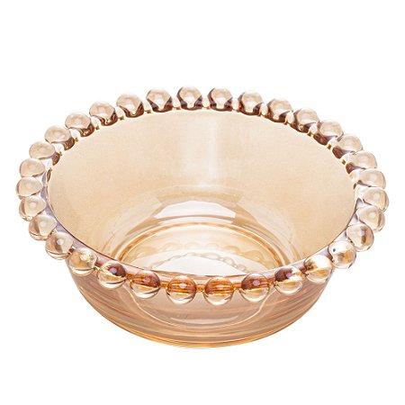 Conj 4 Bowls Pearl Bolinhas Âmbar 12cm 28228