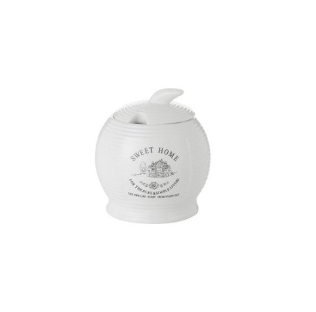 Açucareiro Cerâmica Sweet Home Branco  Lyor 8232