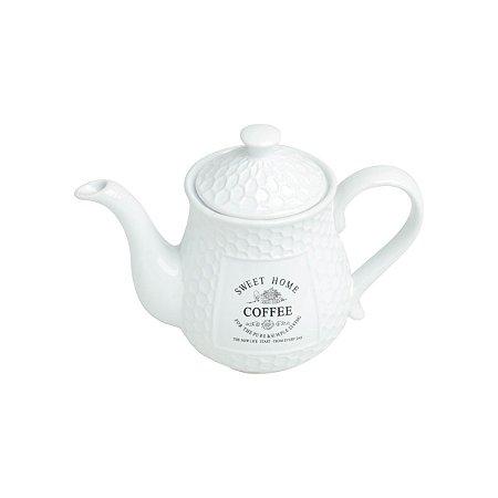Bule Para Café em Cerâmica Sweet Home 850ml Bon Gourmet 27449