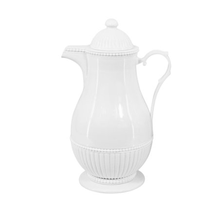 Garrafa Térmica de Plástico Vintage Branca 1 Litro 7998