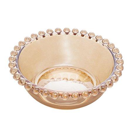Bowl Pearl Bolinhas Âmbar 14cm Avulso - 28227A