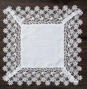 Guardanapo/Lugar Americano Supremo Quadrado Branco 45x45 1001