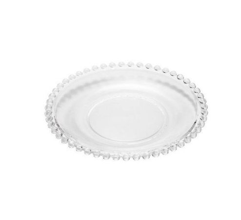 Prato de Cristal para Sobremesa Pearl Avulso 20cm  2672A