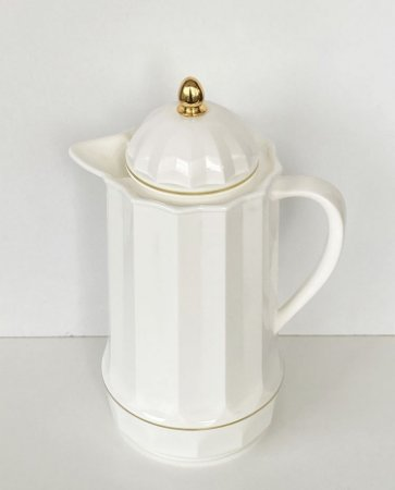 Garrafa Térmica de Plástico Gênova Branco e Dourado 1 L 1526
