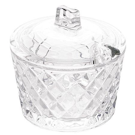 Açucareiro Cristal com Tampa Diamante 1217