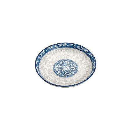 Prato para Sobremesa Fundo Porcelana Blue Garden 18x3,5cm 8481