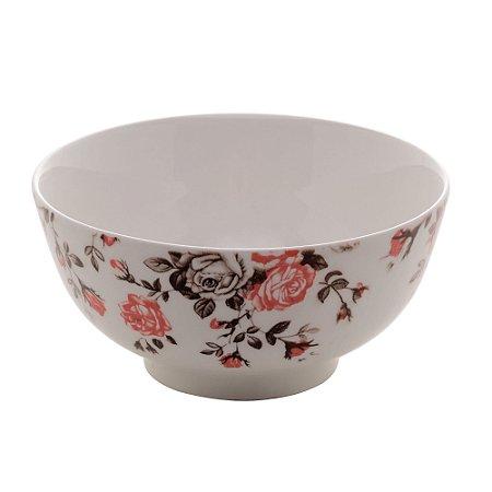 Bowl Tijela de Porcelana Pink Garden Médio 13x7cm 8600