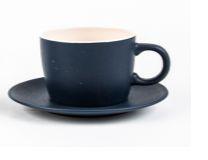 Jogo 4 Xícaras com Pires para Chá Cerâmica Granilite Azul 200ml 28589