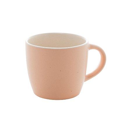 Jogo 4 Xícaras para Café sem Pires Cerâmica Granilite Salmon 115ml 28563