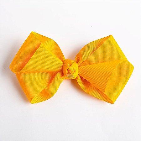 Laço Hortência Amarelo Queimado Fita De Gorgurão