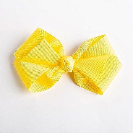 Laço Hortência Amarelo Claro Fita De Gorgurão