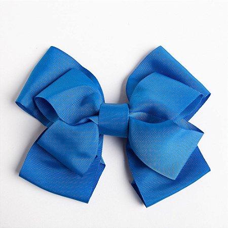 Laço Duplo Abacaxi Azul De Fita De Gorgurão