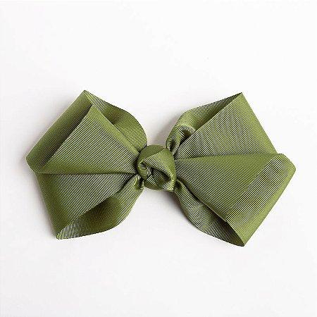 Laço Hortência Verde Militar Fita De Gorgurão