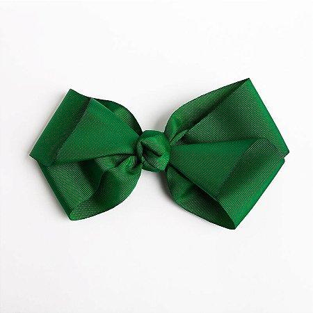 Laço Hortência Verde Bandeira  Fita De Gorgurão