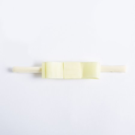 Faixa Begonia Amarelinho Laço Chanel Duplo De Gorgurão