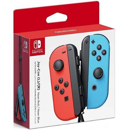 Controle Joy-Con L/R Vermelho e Azul - Switch