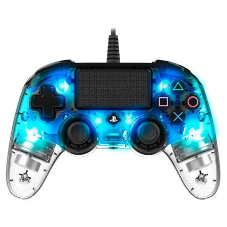 Controle Com Fio Compacto PS4 com led Azul - Nacon