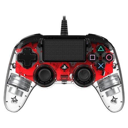 Controle Com Fio Compacto PS4 com led vermelho - Nacon
