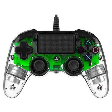 Controle Com Fio Compacto PS4 com led verde - Nacon
