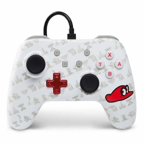 Controle com Fio PowerA Super Mario Odyssey - Switch