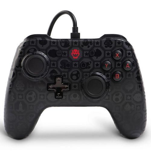 Controle com Fio PowerA Shadow Bowser - Switch