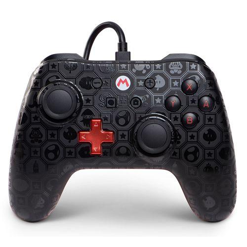 Controle com Fio PowerA Shadow Mario - Switch