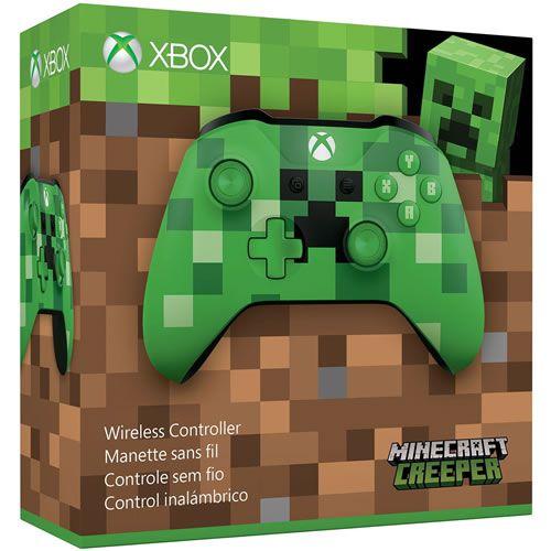 Controle Sem Fio Xbox One Minecraft Creeper - Microsoft [OEM Sem caixa]