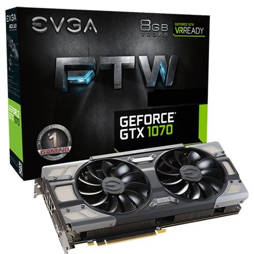 Nvidia GTX 1070 FTW 8GB DDR5 - EVGA [usada]